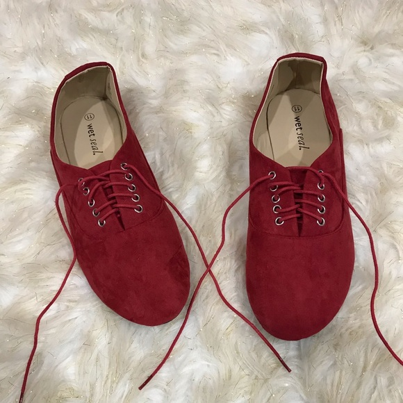 Wet Seal Shoes - Red flats